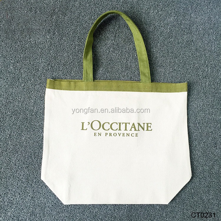 Personalized Large Heavy Utility Printed Canvas Fabric Souvenir Folding Tote Bag