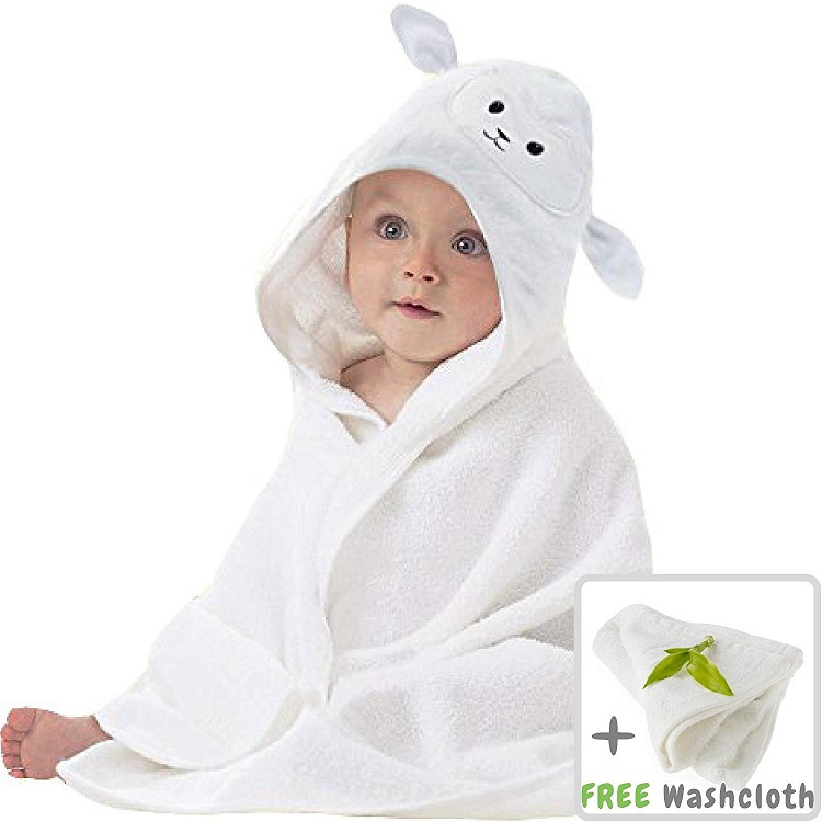 Amazon hot  hooded towel Super Soft 100% cotton/ Bamboo Fiber Animal Head Designs Hooded Baby Bath Towel for Baby and Toddler