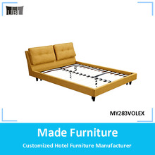 2017 modern solid wood king size bed bedroom set furniture