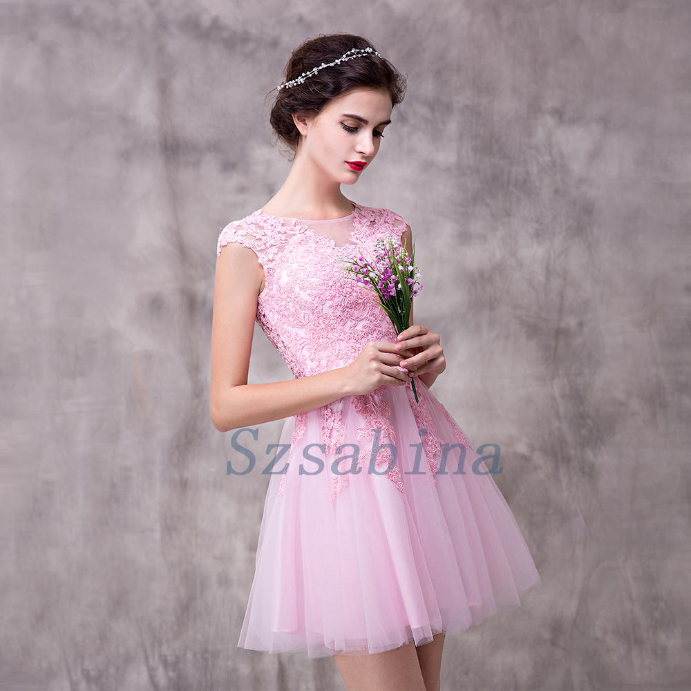 2017 Elegant Sleeveless Patterns Of Lace Evening Dress Short Evening ...