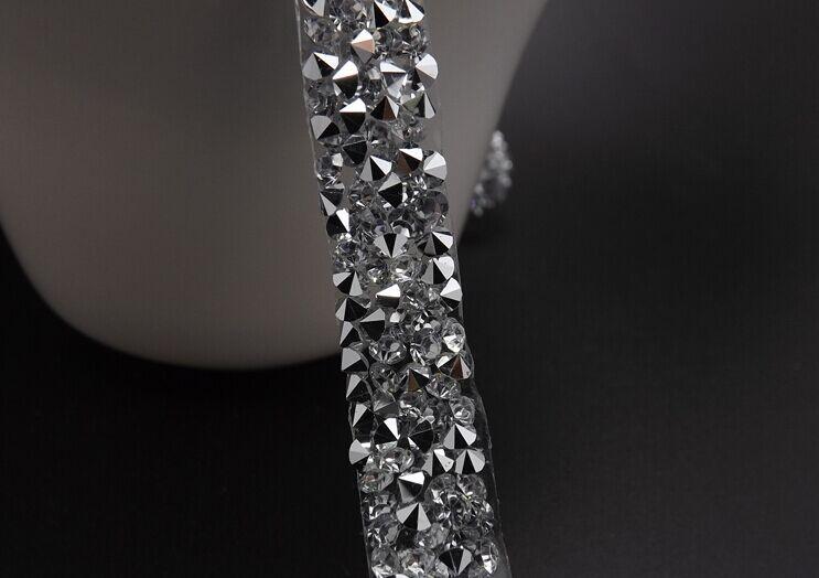 Strass in resina 24*40cm finiture in rilievo cristallo di ferro sul