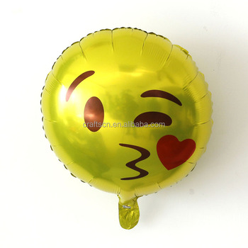 New Top Quality Birthday Party Decorations Emoji Balloon Supplies For Foil Wholesale