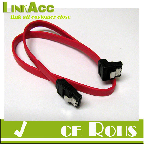 Linkacc1-th126 5 x Serial SATA ATA RAID DATA HDD Hard Drive Signal Cable Straight-Right Angle