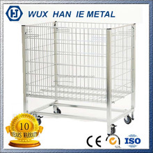 Large Metal Wire Storage Basket With Wheels