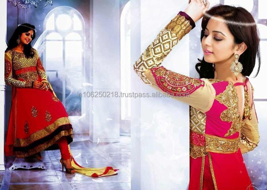 Designer Indian Pakistani Heavy Handwork Anarkali Suits ...