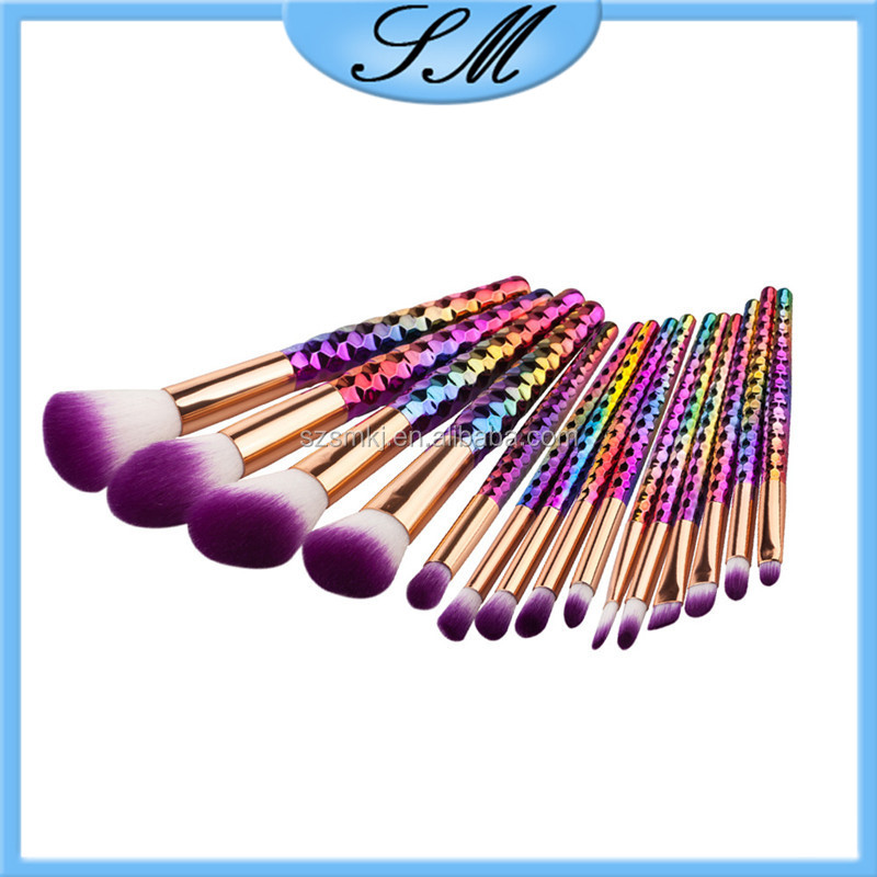 Makeup Tools Cosmetic Rainbow Foundation Brush, 15pcs Makeup Brush brocha de maquillaje