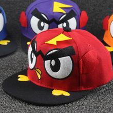 Cartoon bird flat baseball hat children s hip hop cap summer boy girl snapback cap