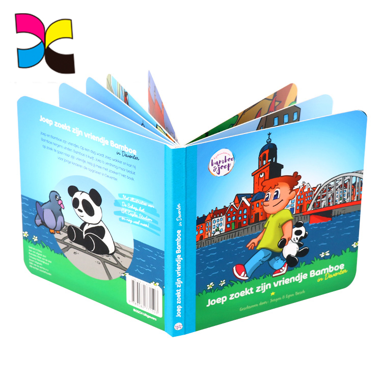 Environmental wholesale custom different style different size OME design children cardboard book