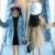 New design fashion kids winter children cloth warm girls coat kids fur waist woolen coat
