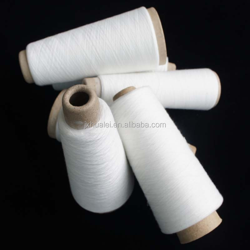 stock lot polyester spun yarn for knitting rope