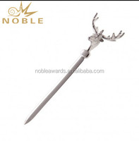 Metal Father Day Gift Custom Logo Stag Sword Letter Opener