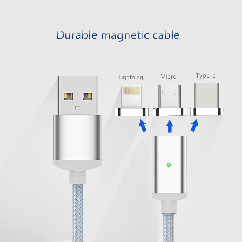 wholesale fast charging magnetic micro usb cable magnetic charging cable