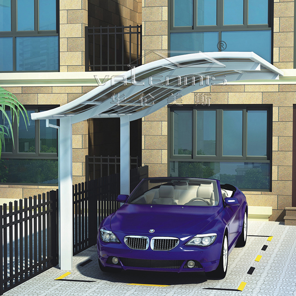 Polycarbonate and aluminum carport car wash shelter/Car parking shelters