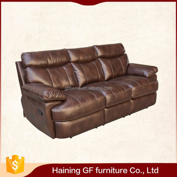 Italy Low Back Leather 3 Seater Sofa Offers Amazing Comfort