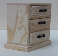 Manufacture price paulownia wooden living-room drawer