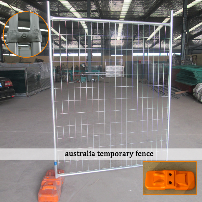 hot dipped galvanized pipe heavy welded silver painted australia temporary fence panel