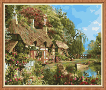 Gx8060- 40*50 Spring Scenery Oil Paintings By Numbers For Bedroom ...