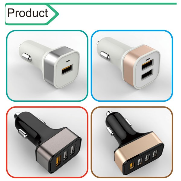 Usb c Car Charger,For Apple Iphone/Iphone 6/Ipad/Samsung Charger,Multi Cellphone Chargers