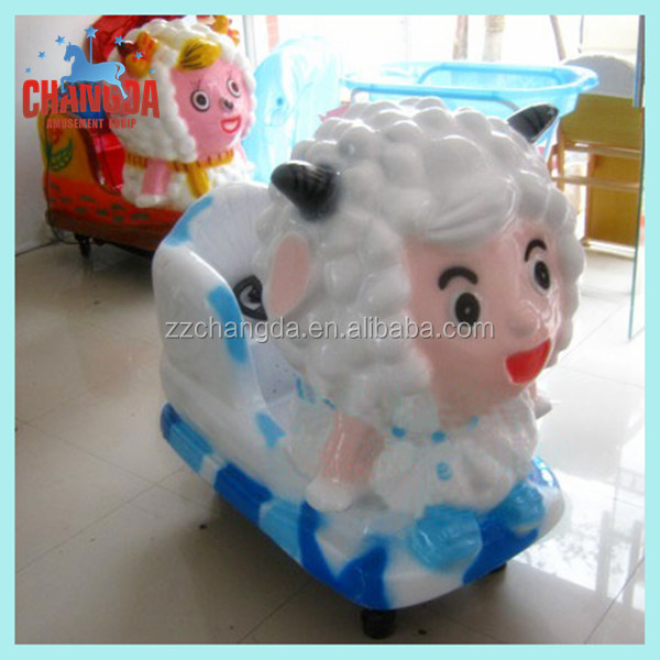 electric yellow auto sheep coin swing machines for children playing