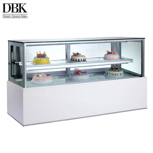 Compact design 2.0 old Japanese style adjustable shelf counter Refrigerator / refrigerated cake display case