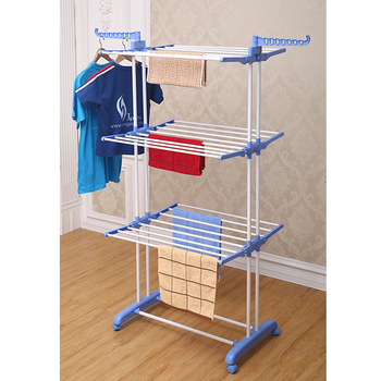 Jp Cr300w Popular Malaysia Luxury Three Tier Trolley Hangers Clothes