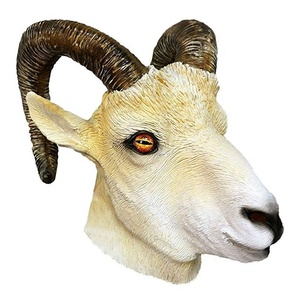 Goat White Latex Animal Mask for Masquerade Party Anonymous Props