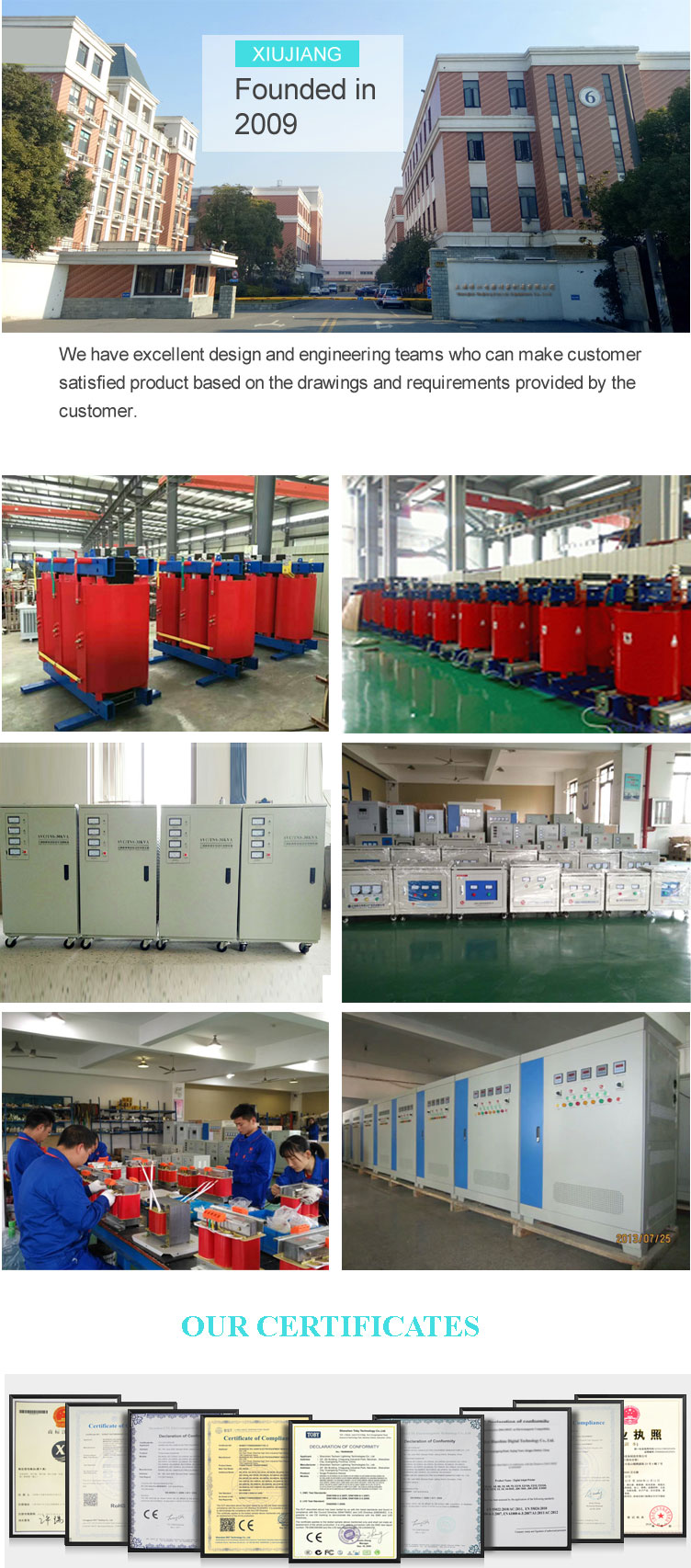 SG 3 phase casting resin isolation transformer with waterproof case 15KVA