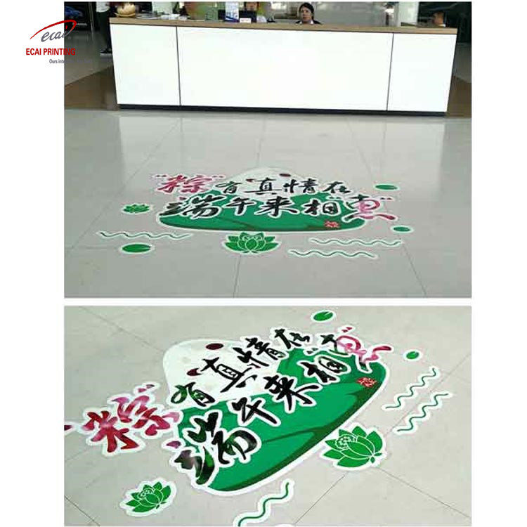 High quality printing 3D removable floor stickers for advertising and decoration