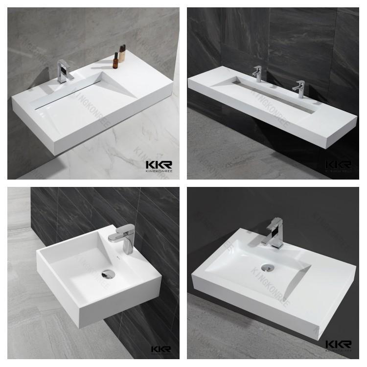 Spanish Resin Wash Basin Small Rectangular Bathroom Sinks