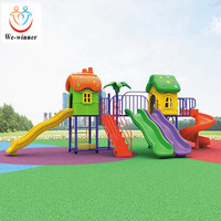 High Quality Children Outdoor Plastic Slide Playground Game For Kids