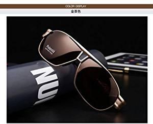 Polarized sunglasses Men's Driving glasses Aviator outdoor Sports UV400 Eyewear-brown