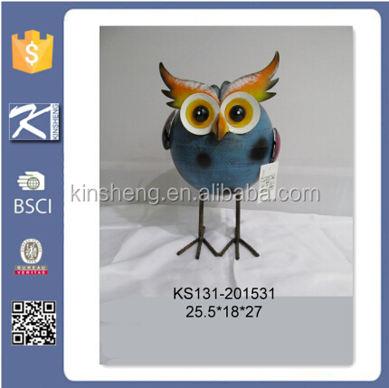 Funny Ornamental Owl Metal Craft For Home Decorations