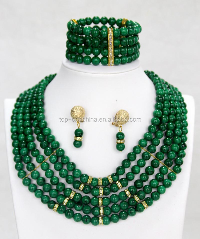 Stylish Nigerian Wedding Beads Necklaces Bracelet African Beads ...