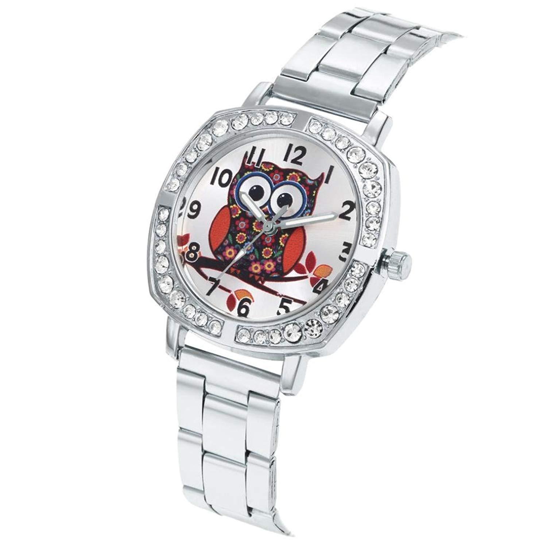 Womens Cute Owl Pattern Analog Quartz Wrist Watch