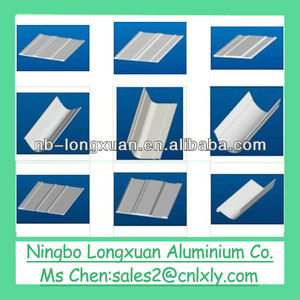 silver anodized 6000 series aluminium anode profile for truck body