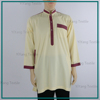 China Supplier Wholesale Kurta Luxury Qatar Men Thobe Comfortable Polyester Full Sleeve Shirts Custom Made Jubah