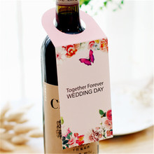 wholesale cheap custom size and shape bottle neck paper hang tag printing