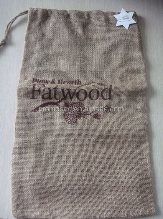 Natural Burlap Drawstring Bag Burlap String Bag