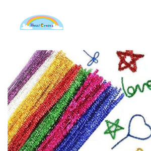 Glitter Chenille Stem For Creative Handmade Diy Art Craft