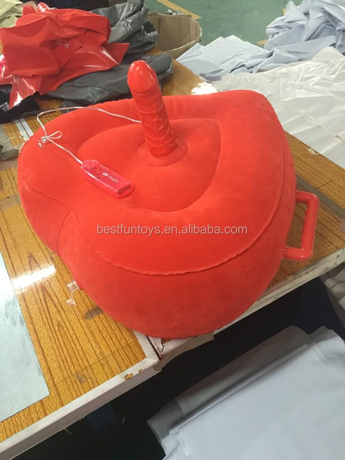 Factory Custom Lady Red Velvet Flocking Inflatable Lovers