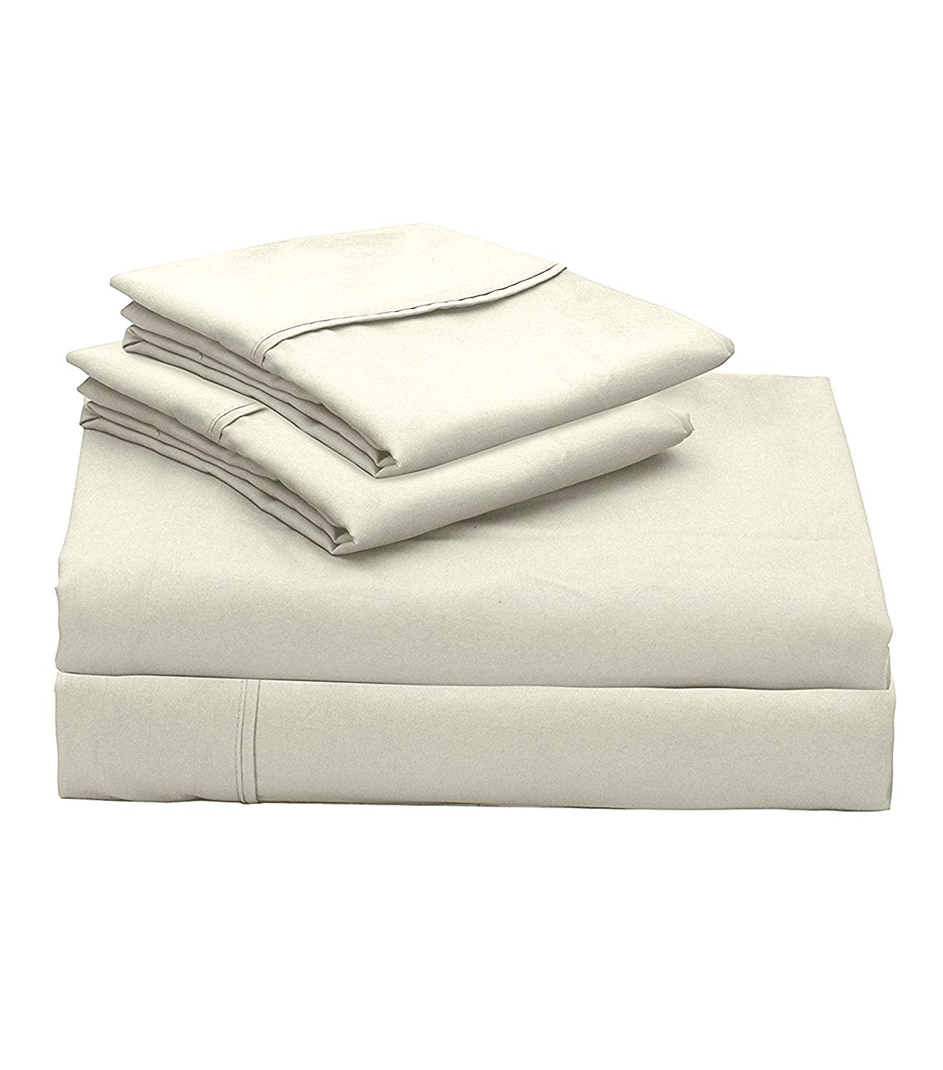 Get Quotations 400 Thread Count 100 Cotton Sheet Ivory King Sheets Set 4