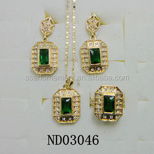 Newest Dubai Gold Jewelry Set Wedding Jewelry Set Dubai Costume