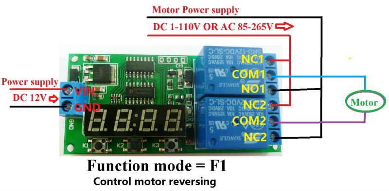 2 live wire and netural wire control circuit,power supply is dc 12v ,wiring  diagram below
