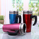 16oz Stainless Steel Insulated Auto Mug Thermo Coffee Tumbler