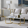 High quality hotel Madison Park Antonio Marble Table Stainless Steel Coffee Side End Table