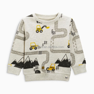 High quality cotton kids cartoon t-shirt for boy, long sleeve boys top