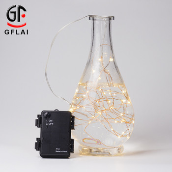 2017 Factory China 2M(7FT)/ 20LEDs Waterproof 3AA Waterproof Battery Operated Copper Wire Led String Lights