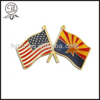 Country flag lapel pins manufacturer