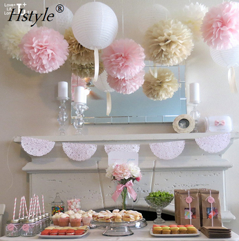 Tissue Paper Pom Poms 6 8 10 14 Flower Wedding Party Baby Room Nursery Decoration Sd002 Christmas Decorations