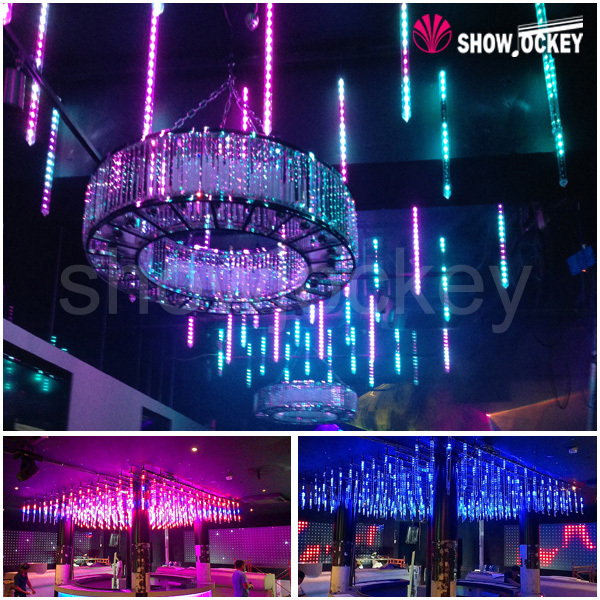 Multi Color Led Snow Falling 3d Tube Light 3d Indoor And Outdoor Led